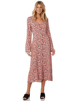 BLACK ROSETTE WOMENS CLOTHING THE FIFTH LABEL DRESSES - 40190403-9FLORAL