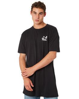 BLACK WHITE MENS CLOTHING FEAT TEES - FTTTLOG01BLKWH