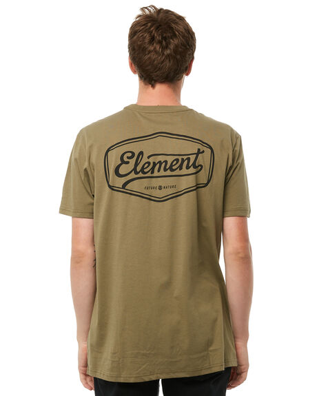 OLIVE MOSS MENS CLOTHING ELEMENT TEES - 186004OMOSS