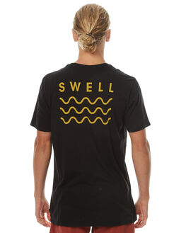 BLACK YELLOW OUTLET MENS SWELL TEES - S5164013BLKY