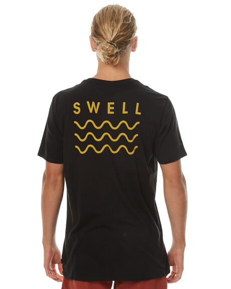 BLACK YELLOW MENS CLOTHING SWELL TEES - S5164013BLKY