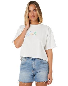 WHITE WOMENS CLOTHING COOLS CLUB TEES - 100-CW6WHT