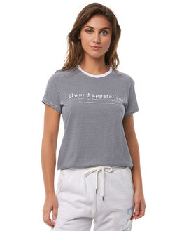 NAVY STRIPE WOMENS CLOTHING ELWOOD TEES - W82103JF6