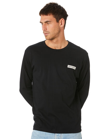 BLACK MENS CLOTHING OCTOPUS TEES - OCTO-08-BLK