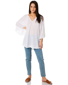 WHITE WOMENS CLOTHING RUSTY FASHION TOPS - SCL0286WHT