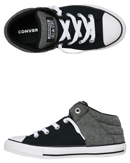 CONVERSE BLACK KIDS BOYS CONVERSE SNEAKERS - 664468CCBLK