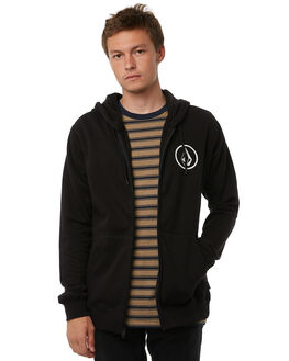 NEW BLACK MENS CLOTHING VOLCOM JUMPERS - A4831701NBK