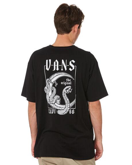 BLACK MENS CLOTHING VANS TEES - VNA54CRBLKBLK