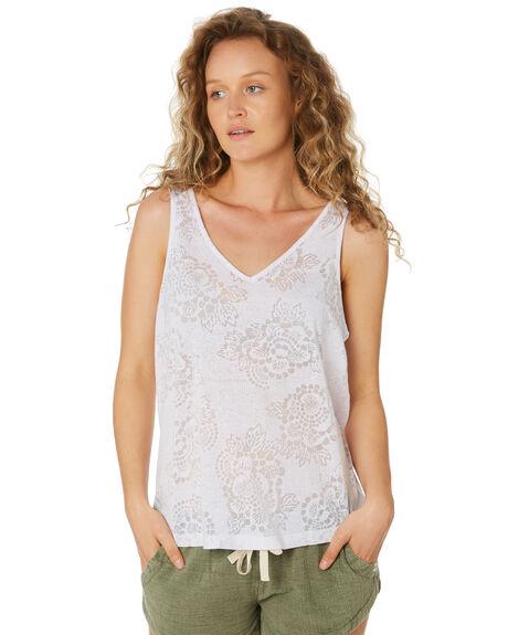 WHITE WOMENS CLOTHING RIP CURL SINGLETS - GTEBQ21000