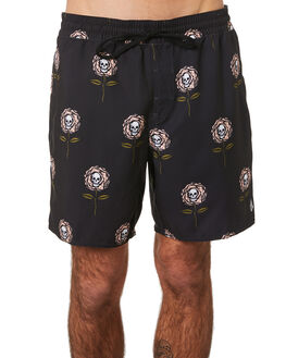 BLACK MENS CLOTHING VOLCOM BOARDSHORTS - A2541904BLK