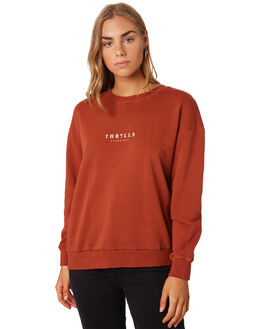 ROCKER RED WOMENS CLOTHING THRILLS JUMPERS - WTS9-205HRED