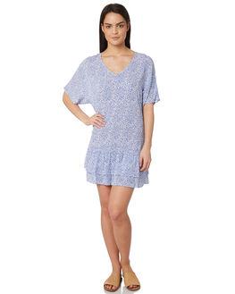 BLUE SPECKLE WOMENS CLOTHING ELWOOD DRESSES - W847134Y2