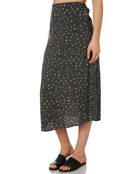 BLACK FLORAL WOMENS CLOTHING ELWOOD SKIRTS - W92610STW