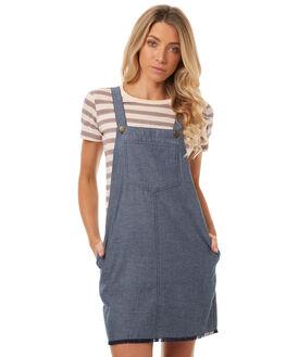 MID BLUE WOMENS CLOTHING LILYA PLAYSUITS + OVERALLS - CHPF01-LSP17MBLU
