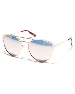 ROSE PINK WOMENS ACCESSORIES QUAY EYEWEAR SUNGLASSES - QW-000012RSPNK