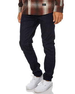 ORGANIC RINSED BLUE MENS CLOTHING DR DENIM JEANS - 1330125-E06