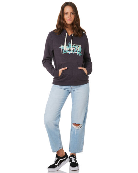 OIL GREY HEATHER WOMENS CLOTHING HURLEY JUMPERS - CD7141-097