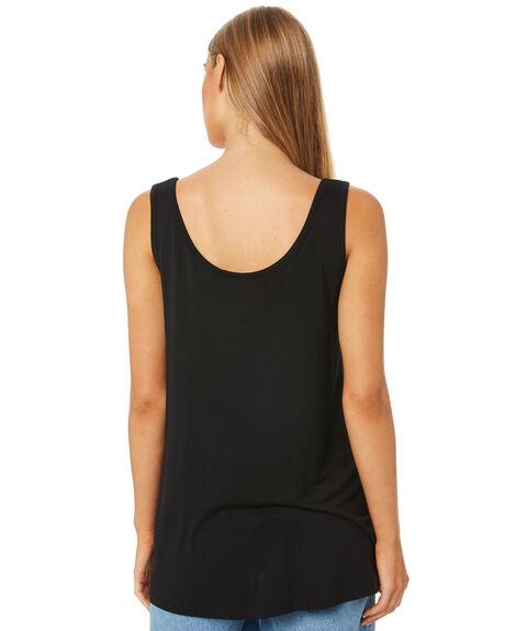 BLACK WOMENS CLOTHING BETTY BASICS SINGLETS - BB526T20BLK