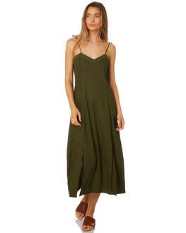 MUSTANG GREEN WOMENS CLOTHING RUE STIIC DRESSES - SA19-22-MG