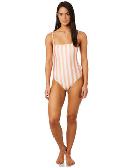 COPPER TAN STRIPE WOMENS SWIMWEAR AFENDS ONE PIECES - W184712CPR