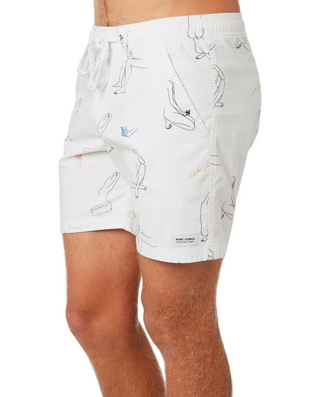 OFF WHITE OUTLET MENS BANKS BOARDSHORTS - BS0208OWH