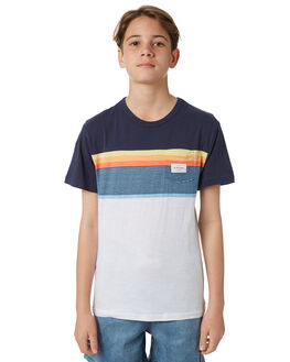 WHITE KIDS BOYS RIP CURL TEES - KTELV21000