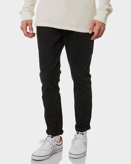 BLACK MENS CLOTHING ACADEMY BRAND PANTS - BA104BLK