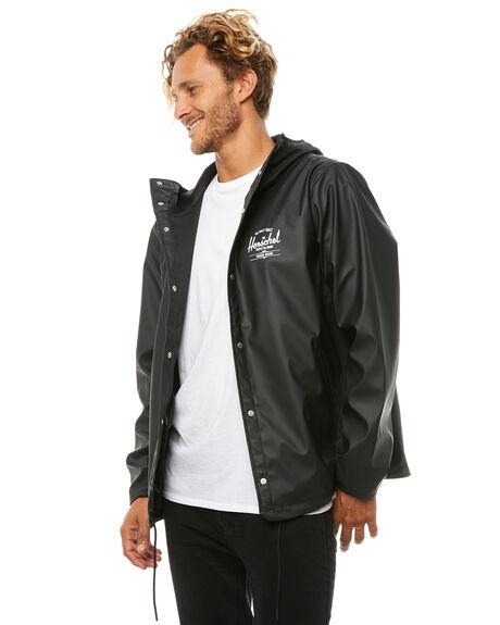 BLACK WHITE MENS CLOTHING HERSCHEL SUPPLY CO JACKETS - 15008-00064