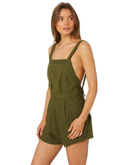 MUSTANG GREEN WOMENS CLOTHING RUE STIIC PLAYSUITS + OVERALLS - SA19-42-MG