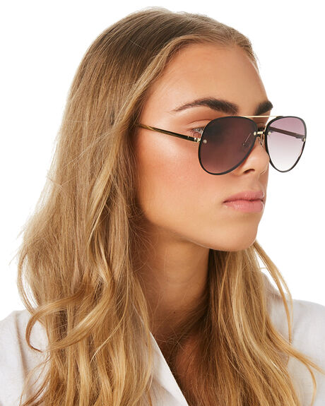 GOLD BLACK WOMENS ACCESSORIES LE SPECS SUNGLASSES - LSP1902033GLDBK
