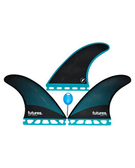 TEAL BLACK BOARDSPORTS SURF FUTURE FINS FINS - 1137-159-00TEABK