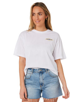 EL CAMINO WHITE WOMENS CLOTHING BRIXTON TEES - 02827ELWHT
