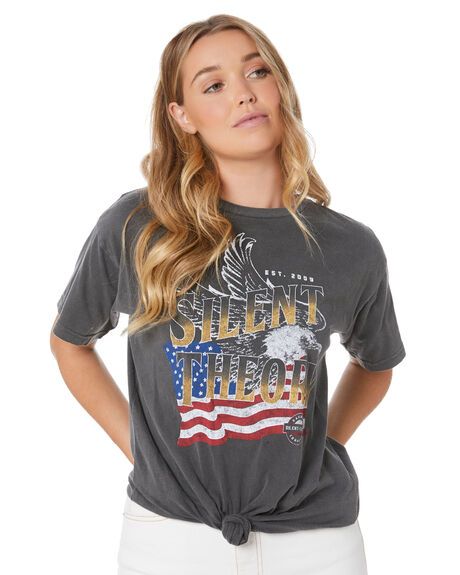 CHARCOAL WOMENS CLOTHING SILENT THEORY TEES - 6053050CHAR