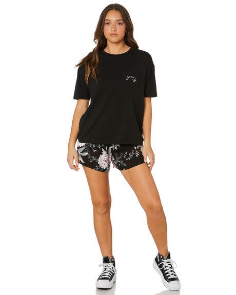 BLACK FLORAL WOMENS CLOTHING RPM SHORTS - 21PW19CBKFLR