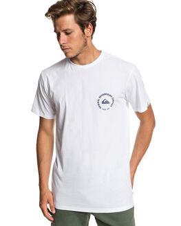 WHITE MENS CLOTHING QUIKSILVER TEES - EQYZT05273-WBB0