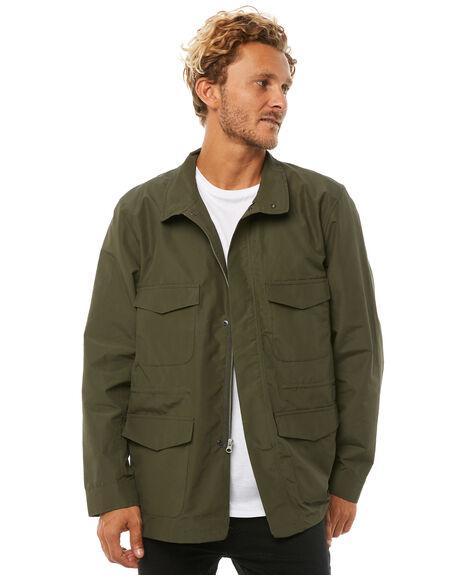 DARK OLIVE MENS CLOTHING HERSCHEL SUPPLY CO JACKETS - 15019-00075