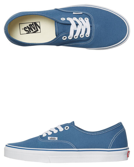 NAVY WHITE WOMENS FOOTWEAR VANS SNEAKERS - SSVN-0EE3NVYW