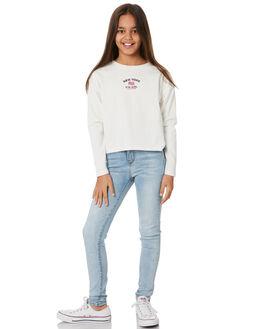 VINTAGE WHITE KIDS GIRLS EVES SISTER TOPS - 9551005VWHT