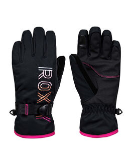 TRUE BLACK BOARDSPORTS SNOW ROXY GLOVES - ERGHN03019-KVJ0