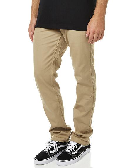 KHAKI MENS CLOTHING DC SHOES PANTS - EDYNP03107TKY0