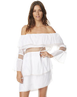 WHITE WOMENS CLOTHING SUBOO DRESSES - SB1069WHT
