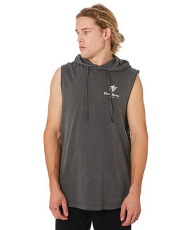 CHARCOAL MENS CLOTHING SILENT THEORY SINGLETS - 4044004COAL