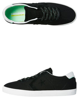 BLACK WHITE MENS FOOTWEAR CONVERSE SKATE SHOES - 155545BKWH