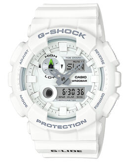 WHITE MENS ACCESSORIES G SHOCK WATCHES - GAX-100A-7ADRWHI
