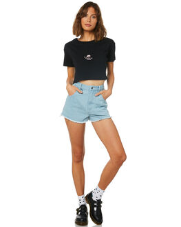 BLACK WOMENS CLOTHING AFENDS TEES - W191007BLK