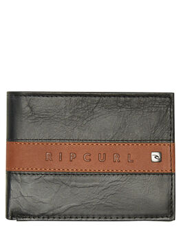 BLACK BROWN MENS ACCESSORIES RIP CURL WALLETS - BWLLD18266