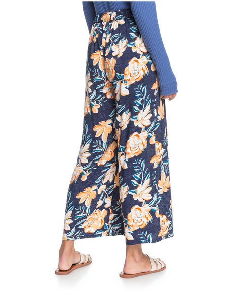 BRIGHT WHITE ENGRAVE WOMENS CLOTHING ROXY PANTS - ERJNP03350-BSP6