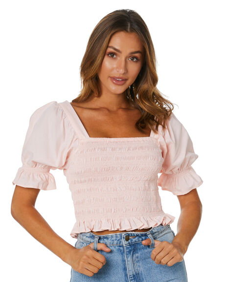 LIGHT PINK WOMENS CLOTHING RUE STIIC FASHION TOPS - AS-20-43-2-LP-ASLP