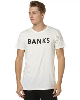 OFF WHITE MENS CLOTHING BANKS TEES - WTS0114OWH