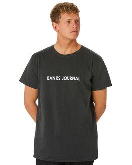 DIRTY BLACK MENS CLOTHING BANKS TEES - WTS0398DBL